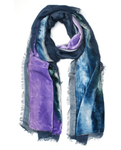 Elizabeth Gillett Gillian Navy Scarf - Purple