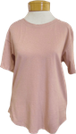 Fabina Recycled Cotton Classic Top - Mauve