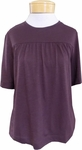Lilla P. Flam� Modal Shirred Short Sleeve Top - Fig (S & L)