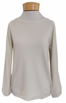 Lilla P. French Terry Full Sleeve Pullover - Ecru