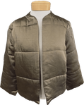 Lilla P Quilted Satin Jacket - Truffle