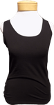Lilla P. Stretch Layering Scoop Tank - Black
