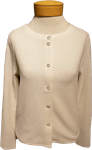 Lilla P. Textured Waffle Cardigan - Ecru (SOLD OUT)