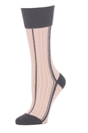 Little River Side Striped Mid-Calf - Nude