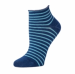 Little River Striped Bootie Sock - Navy/Slate (SOLD OUT)