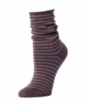 Little River Striped Slouch Sock - Cocoa/Truffle