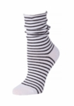 Little River Striped Slouch Sock - White/Black (SOLD OUT)