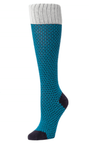 Little River Textured Basket Weave Knee High - Teal - SOLD OUT