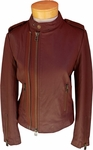 Margaret O'Leary Chloe Leather Jacket - Cognac