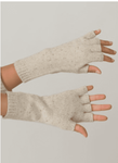 Margaret O'Leary Merino Fingerless Gloves - Winter White