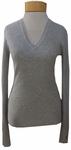 Margaret O'Leary Shirttail Waffle V-Neck Pullover - Mist
