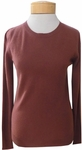 Margaret O'Leary Simple Cashmere Crew Sweater - Rosewood (S & L)