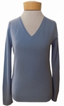 Margaret O'Leary Simple Cashmere V-Neck Sweater - Celestial