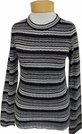 Margaret O'Leary Wendy Stripe Pullover - Black Stripe