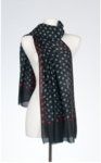 Banaris Merino & Silk Stole With Organic Polka Dot Print - Mod SOLD OUT