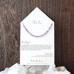 Vibe Beaded Necklace - Amethyst