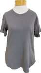 Fabina Recycled Cotton Classic Top - Grey