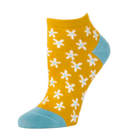 Little River Ditsy Floral Micro Anklet Sock - Marigold