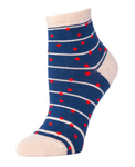 Little River Grand Dot Anklet Sock - Navy