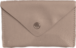Crystalyn Kae Up-Cycled Leather Card Case Wallet - Nude