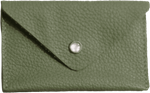 Crystalyn Kae Up-Cycled Leather Card Case Wallet - Sage