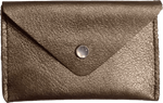 Crystalyn Kae Up-Cycled Leather Card Case Wallet - Gold