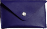 Crystalyn Kae Up-Cycled Leather Card Case Wallet - Purple