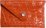 Crystalyn Kae Up-Cycled Leather Card Case Wallet  - Red