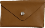 Crystalyn Kae Up-Cycled Leather Card Case Wallet - Brown
