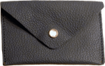 Crystalyn Kae Up-Cycled Leather Card Case Wallet - Black