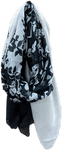 Chloe & Lex Black and White Floral Scarf