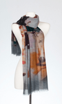 Banaris Merino & Silk Stole - Silver Screen