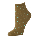 Little River Polka Dot Anklet Sock - Peat/Ice Cream