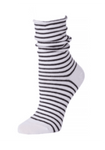 Little River Striped Slouch Sock - White/Black