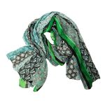 Chloe & Lex Anya Cotton Scarf - Green