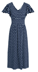 People Tree Dalma Paisley Dress - Navy (Size M)