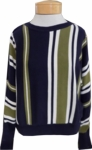 People Tree Shola Stripe Jumper - Navy Multi (Size S, M & L)