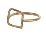 People Tree Square Ring - Brass
