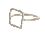 People Tree Square Ring - Silver