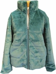 PJ Salvage Ciao Bella Faux Fur Jacket - Emerald - (Size M)