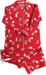 PJ Salvage Flannel Set - Cats