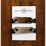 Pretty Simple Leather Bracelet Cuff/ Ponytail Hair Tie - Animal Print SOLD OUT