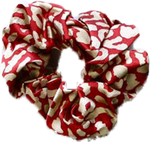 Pretty Simple Leopard Print Hair Scrunchies - Spice (SOLD OUT)