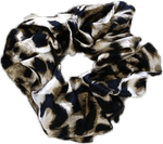 Pretty Simple Leopard Print Hair Scrunchy - Brown (SOLD OUT)