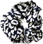 Pretty Simple Leopard Print Hair Scrunchy - Ivory (SOLD OUT)