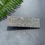 Pretty Simple Rectangular Crystal Hair Clip - Silver (SOLD OUT)
