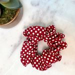Pretty Simple Scrunchie - Red Polka Dot - SOLD OUT