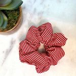 Pretty Simple Scrunchie - Red Stripe - SOLD OUT