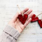 HandyHappy Rustic Heart Ornament - Red