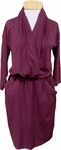Sarah Liller Clara Dress - Wine